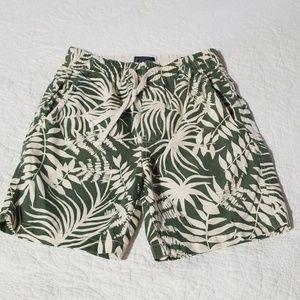 LikeNew Mens J Crew Dock Shorts Green Ferns sz XS